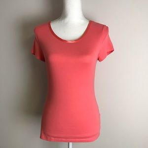Banana Republic - Coral T-shirt Luxe Touch